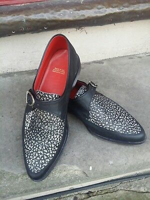 Vintage 1970s Rockabilly Teddy boy Buckled Creepers Shoes.Punk 50's Style.Size 9