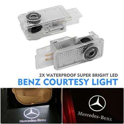 2x Cree LED Projector Car Door Light Puddle Courtesy LOGO lamp Fit Mercedes Benz