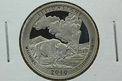 """2010 P Yellowstone WY America the Beautiful National Parks in /""""Satin/"""" Mint Wrap"""