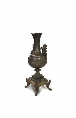 Candelabra French antique early 19th century bronze, marble. 41cm height