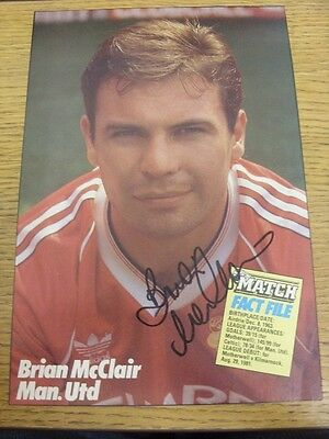90-2000's Autographed Magazine Picture A4: Manchester United - McClair, Brian. W