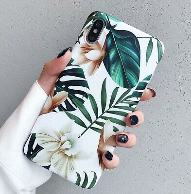 Retro Flower Leaf soft Cover for iphone iphone XS MAX XR X 8 7 6s plus