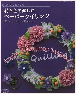 OUT OF PRINT Japanese Craft Book Origami PAPER QUILL Applique Flower Deco