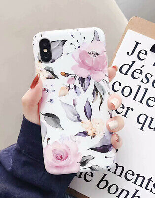 Retro Flowers Clear Edge Soft Case Cover for iphone XS MAX XR X 8 7 6s plus