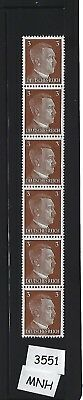 MNH Stamp strip / Adolph Hitler / 1941 Issue PF03 / Nazi Germany / Third Reich
