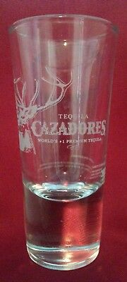 """Tequila Cazadores Drink Glass Rock Solid Base 6 oz   RARE size 5.25"""" Tall"""