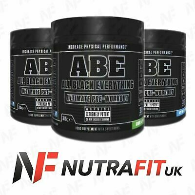 APPLIED NUTRITION ABE + SMART SHAKER ultimate pre-workout all black everything