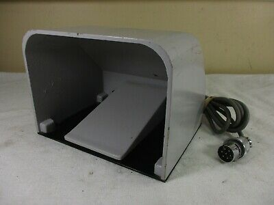 Metal Industrial 7 Pin Covered Foot Pedal from Optometry - Welding Tool    (a)