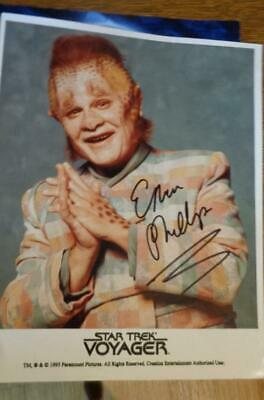 Ethan Phillips As  Neelix Autograph in Star Trek Voyager 1995 8 x10 NO COA