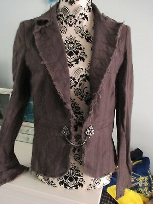 womens/girls grey River Island fitted jacket - size 12