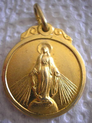 Our Lady Of Miraculous Ex Pupils Gold Wedding Celebration Memento Gilt Medal