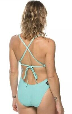 4ac823643e1 JOLYN 34 Tie BACK Jackson II 2 SWIMSUIT Swim BEACH Green-Blue AQUA New NWOT
