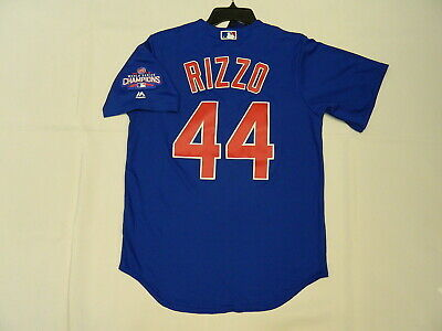 9de5c2d98 Official Anthony Rizzo Chicago Cubs World Series Champions Blue Jersey  Medium