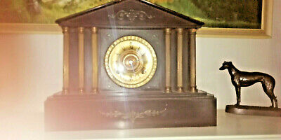 Large antique clock. Working and chiming.