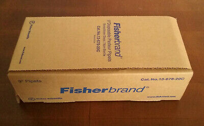 "Fisherbrand 9"" Disposable Borosilicate Glass Pasteur Pipets, 13-678-20C, 144/box"