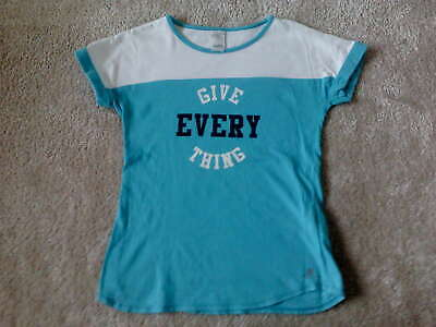 Girls Teal Sports T-shirt (12 years)  - Good Condition