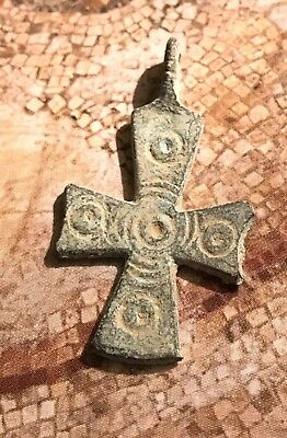 Cross Jesus Christ Byzantine Ancient Greece / Cross of Jesus in Bronze , a relic