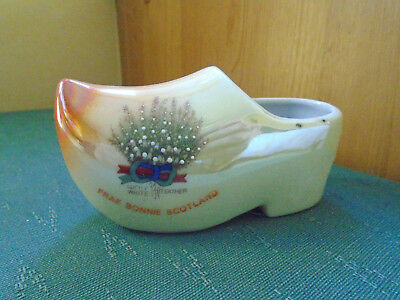 Lucky White Heather Frae Bonnie Scotland - Model Of A Clog - Crested China