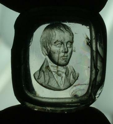 Antique Glass Intaglio Seal Of Robert Burns