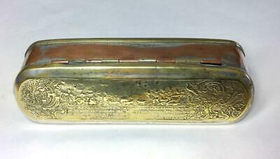 "LARGE 6.5"" ANTIQUE EARLY 19th CENTURY DUTCH SNUFF BOX WITH NAVAL SCENES"