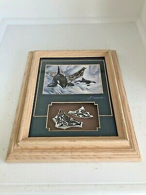 Jody Bergsma Signed Orca And Thunderbirds Print W/Pottery Shards