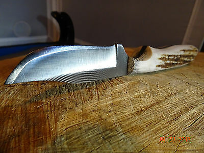 """ANZA 6 1/4"""" FIXED blade KNIFE, blade made from a file which has been annealed"""