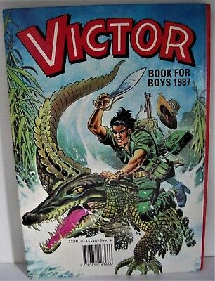 VICTOR  Annual Book For Boys 1987, no tears, price intact, perfect spine FINE