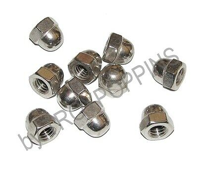 "10-Ss 3/8""-16 Hex Cap Acorn Nuts Coarse Stainless Steel 18-8 Fasteners Hardware"
