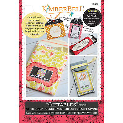 """KIMBERBELL """"GIFTABLES"""" Volume 1 CD Machine Embroidery"""