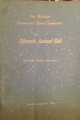 1968 15Th Annual Ball Program Windsor Democratic Town Committee Connecticut