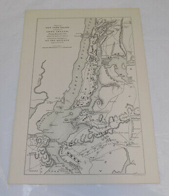 c1880 Antique Map of NEW YORK ISLAND, & PART OF LONG ISLAND
