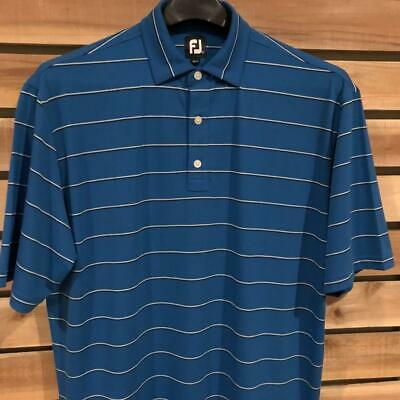 3ba68e406 EUC Mens Striped FootJoy Spandex Polyester S/S Golf Polo Shirt XL Tags/Fits