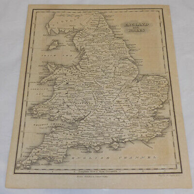 c1834 Antique Map of ENGLAND AND WALES