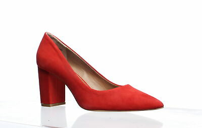 d614fe16f52 Steve Madden Womens Ashlyn Red Nubuck Pumps Size 8.5 (257233)