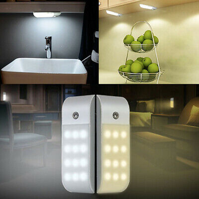 12 LED Sensor Induction Night Light Cabinet Lamp Home Bulb Acc Rechargeable USB