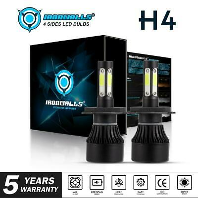 H4 4-Sides LED Headlight Bulb Upgrade Kit for Toyota Hilux Ute 4X4 High Low Beam