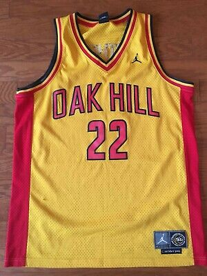 e00de91d2677 Carmelo Anthony  22 Oak Hill High School Basketball Jersey Yellow - Size  Medium