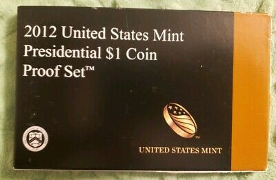 (1) 2012 United States Mint Presidential $1 Coin Proof Set w/ BOX & COA #194