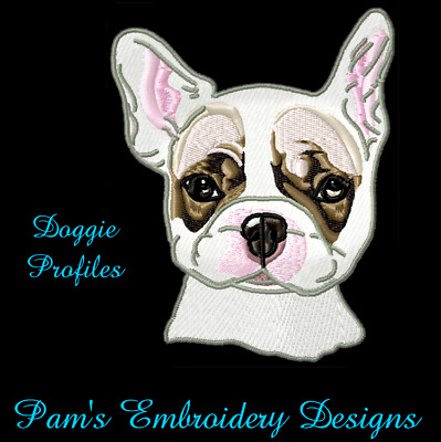 DOGGIE PROFILES 20 2 sets  MACHINE EMBROIDERY DESIGNS CD or USB