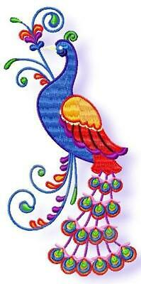 DECORATIVE PEACOCKS 11 MACHINE EMBROIDERY DESIGNS CD or USB