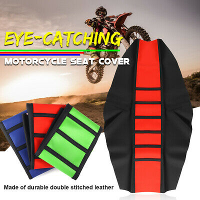 Universal Motorcycle Gripper Soft Seat Cover Skin Protector Dirt Bike Motocross