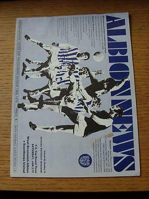 02/01/1971 West Bromwich Albion v Scunthorpe United [FA Cup] (Small Mark On Cove
