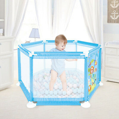 Portable Home Travel Playpen Tent Ball Pool Children Baby House Play Space  Blue