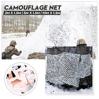 3 Size White Snow  Camo Net Camouflage Netting Hunting/Shooting Hide Tent Cover