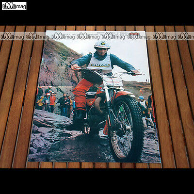 CHARLES COUTARD Champion Trial sur sa BULTACO en 1977 Poster Pilote MOTO #PM386