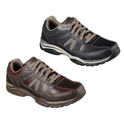 SKECHERS RELAXED FIT Larson Nerick Mens Black Brown Leather