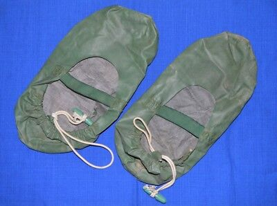 Russian USSR Army NUCLEAR & CHEMICAL rubberized SLIPPERS sz. S