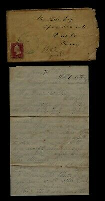111th Pennsylvania Infantry CIVIL WAR LETTER from Camp near Winchester, Virginia