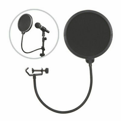 Dual Layer Microphone Filter Recording Studio Wind Screen Pop Mask Shield UK TOP