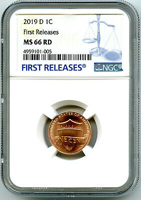 2019 D Us Mint Cent Union Shield Ngc Ms66 Rd First Releases Blue Label Penny